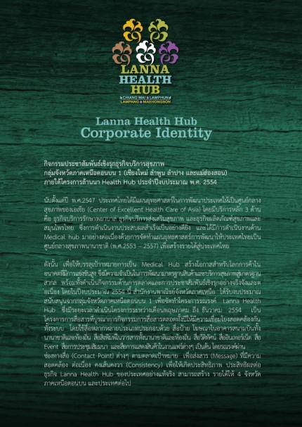 About Lanna Health Hub LANNA HEALTH HUB CORPORATE IDENTITY