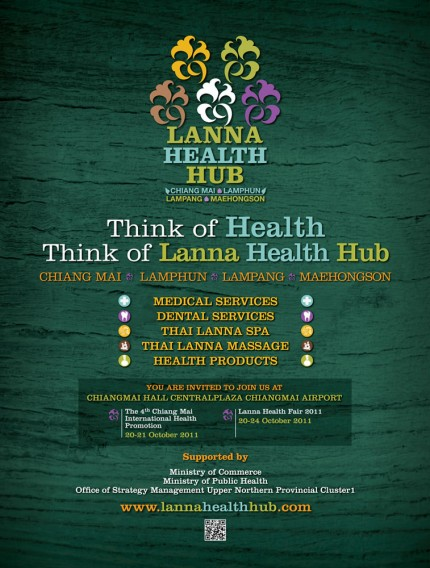 Leaflet LANNA HEALTH HUB CORPORATE IDENTITY