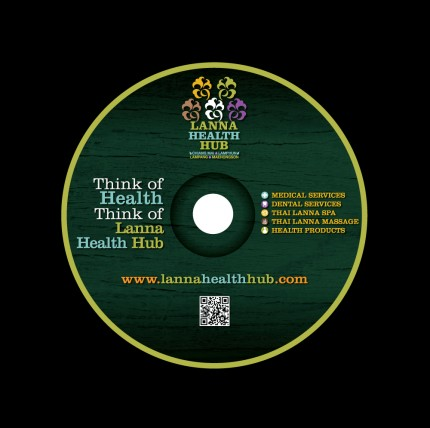 CD Rom Label LANNA HEALTH HUB CORPORATE IDENTITY