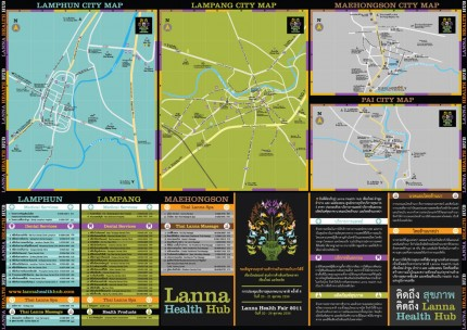 Map and Poster LANNA HEALTH HUB CORPORATE IDENTITY
