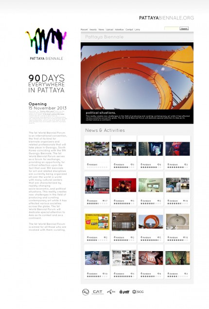 WEBSITE DESIGN Pattaya Biennale Prototype